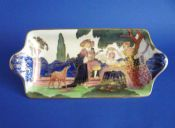 Beautiful Royal Doulton 'Chivalry' Series Ware York Sandwich Tray D5030 c1930